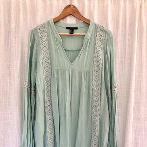 Forever 21 light teal dress